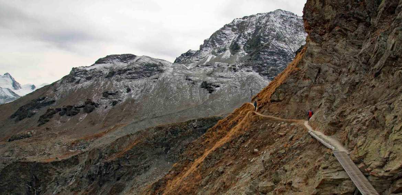 Photo of hiking trail near the Cabane des Aiguilles Rouges, Arolla, Valais, Switzerland