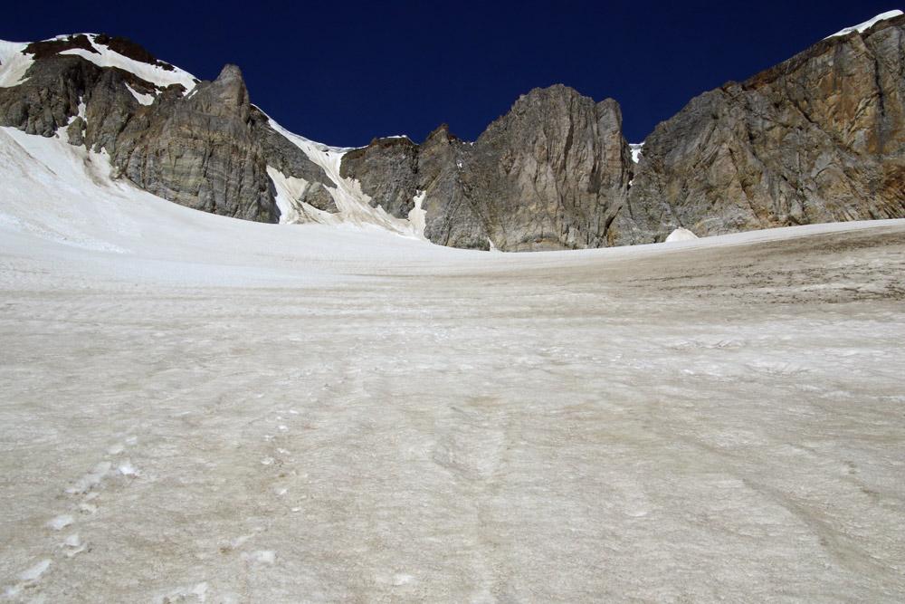 Photo of the Schölli Glacier on the Barrhorn hike trail from St Niklaus, Wallis, Switzerland