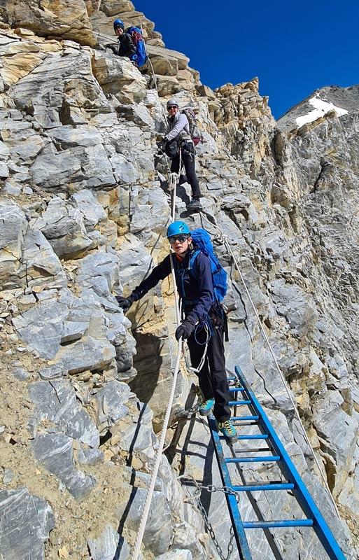 Photo of the via ferrata on the Barrhorn hike from St Niklaus, Wallis, Switzerland