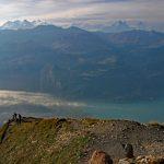 Photo of Lake Brienz from the Brienzer Rothorn summit   Hiking in Switzerland