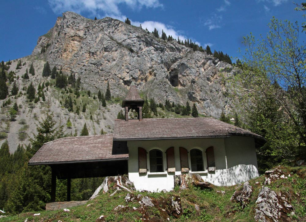 Photo of the church (église) at Taney village, Lac de Tanay   Hiking in Switzerland