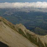 Photo of the Schongütsch summit and Scrattenfluh from the Brienzer Rothorn   Hiking in Interlaken, Switzerland
