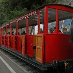 Photo of the Brienz Rothorn Bahn, a scenic mountain train near Lake Brienz and Interlaken, Switzerland