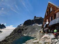 Photo of the Cabane d'Orny and Orny glacier, Switzerland