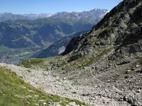Photo of the Swiss hiking trail down the Combe d'Orny to Champex-Lac