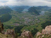 Photo of Lake Lucerne, Lake Lauerz and Schwyz from Grosser Mythen   Hiking in Switzerland